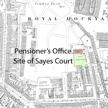 John Evelyn's Sayes Court Estate as it was c1860