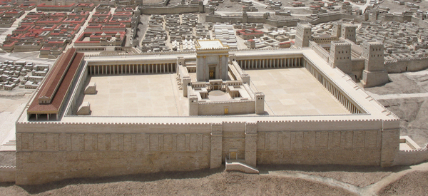 Model of Herod's Temple in Jerusalem