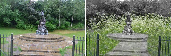 Peter Pan garden in Kensington