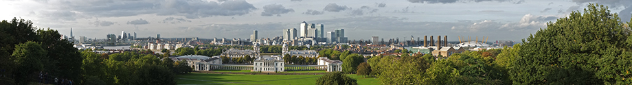 London Skyline Landscape Panorama from Greenwich