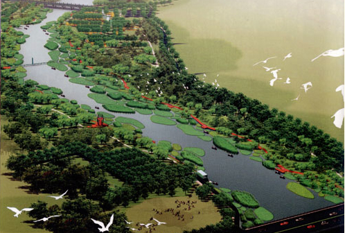 Tanghe River Park Red Ribbon