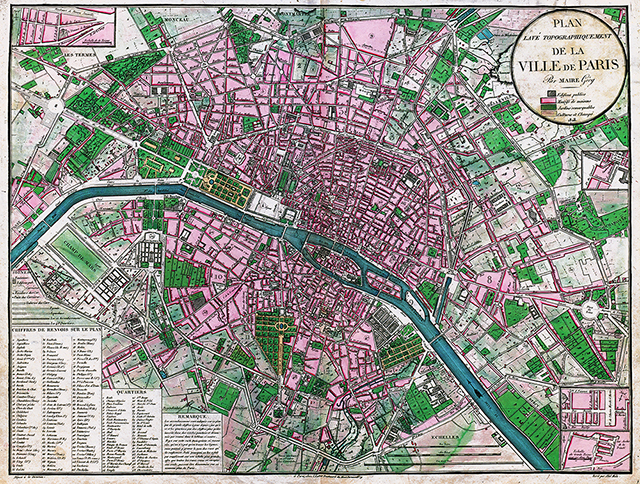 Paris urbanism plan