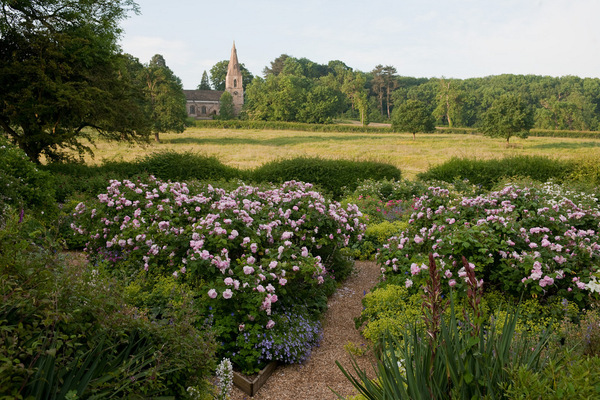 The Fan Rose Garden, Kelmarsh Hall