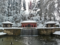 Medium achabal mughal islamic garden winter