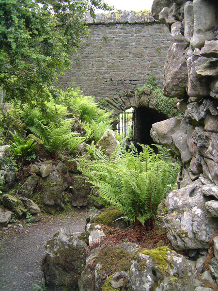 Tunnel and folly, Loughcrew Gardens