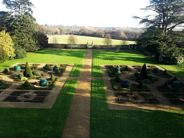 View of the gardens, Thorpe Hall