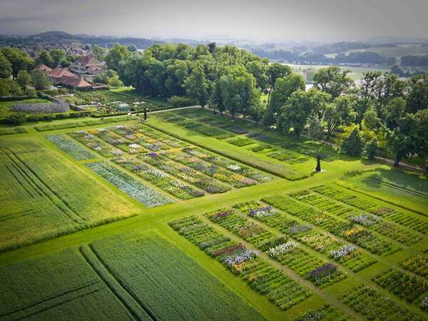 Aerial view of the garden, Chateau de Vullierens