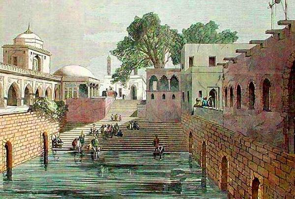 Hazrat Nizamuddin Baoli by William Daniell