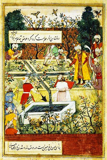 Babur Supervising the Laying Out of the Garden of Fidelity