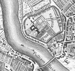 Fulham Palace Gardens in the 18th century