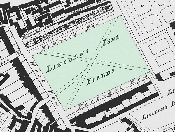 Lincoln's Inn Fields Map