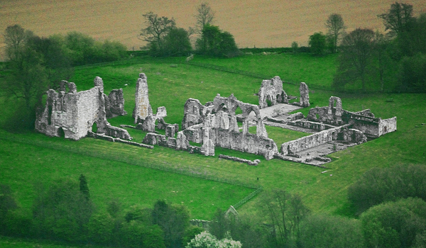 Bayham Abbey aerial view