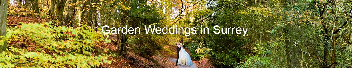 Garden weddings in Surrey