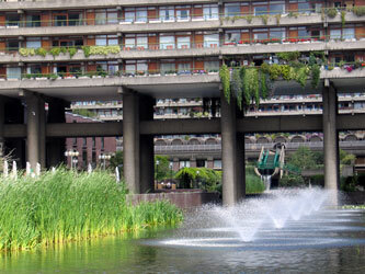 Fountains at The Barbican, London