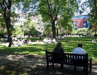 Bunhill Fields Burial Ground in the Summer