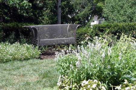 Bench in the Sunken Gardens