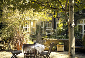 Courtyard at the Old Parsonage Hotel