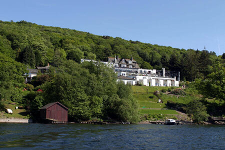 View of the Beech Hill Hotel from the Lake Windermere