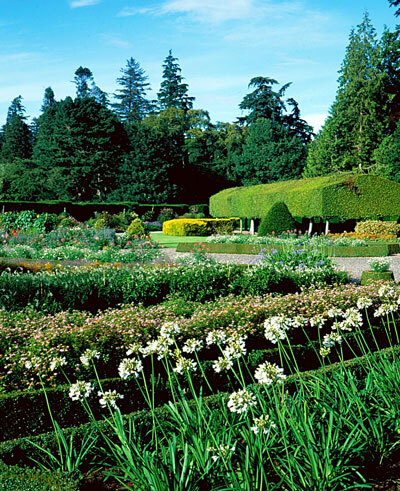 Italian Garden at Glamis Castle
