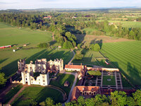 Medium walled garden cowdray aerial original