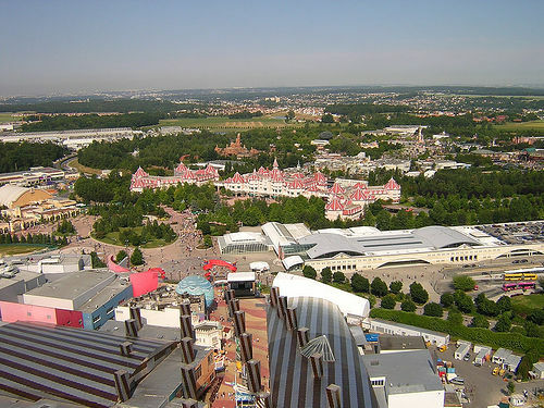 Aerial View, Disneyland Paris
