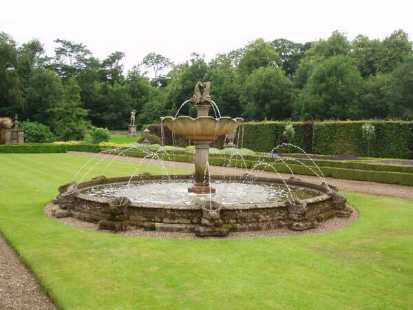 Fountain at Seaton Delaval Hall