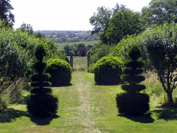 Topiary at Canons Ashby Gardens