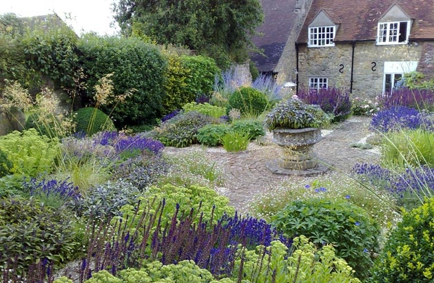 garden was transformed into a scented herb garden shimmering with