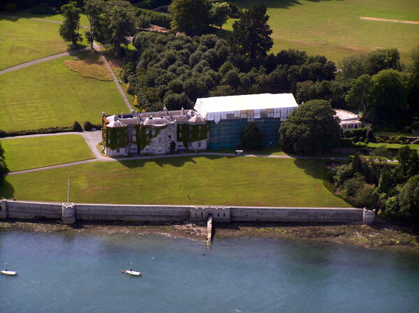 Plas Newydd from the air