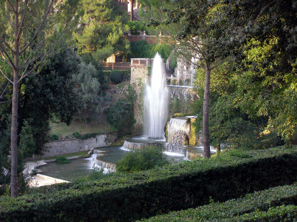 View of Fountains, Villa d'Este, Tivoli