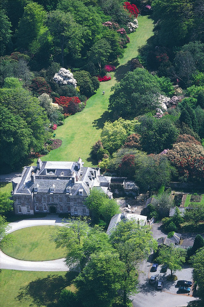 Aerial View of Trewithen Gardens