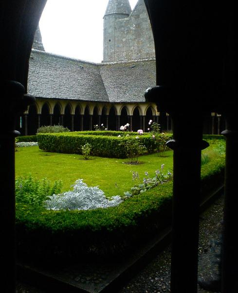 Mont St Michel Cloister Garden