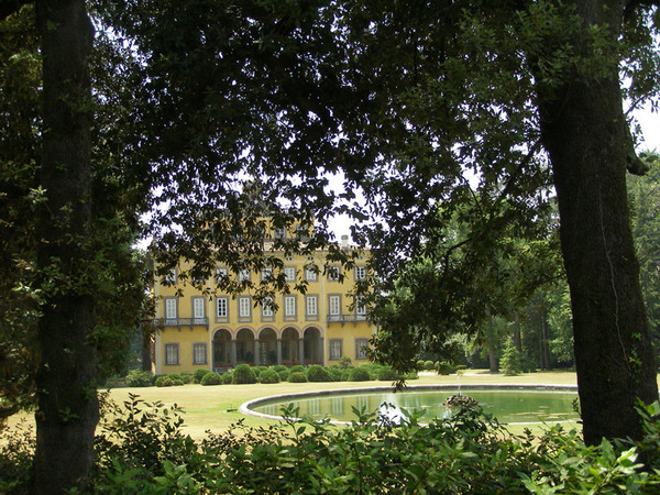 Villa Torrigiani Garden, Rear View