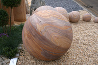 Medium sandstone spheres silverland original