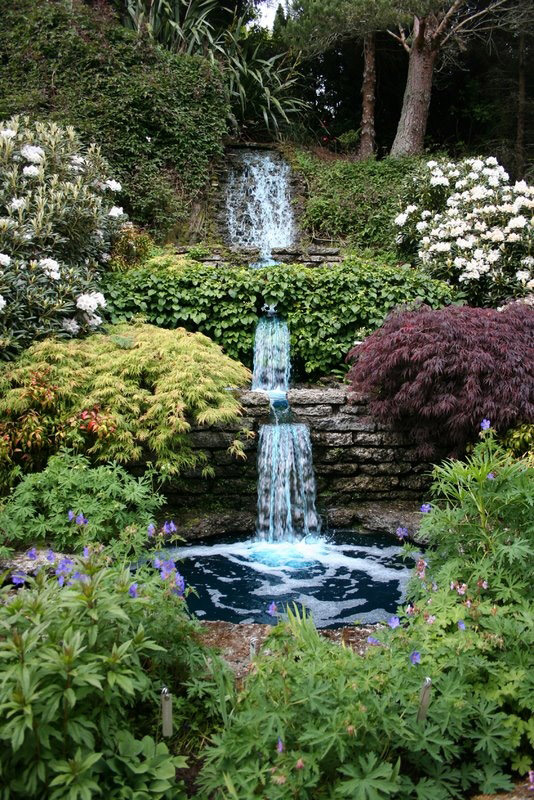Cross hills gardens for Tiered pond waterfall
