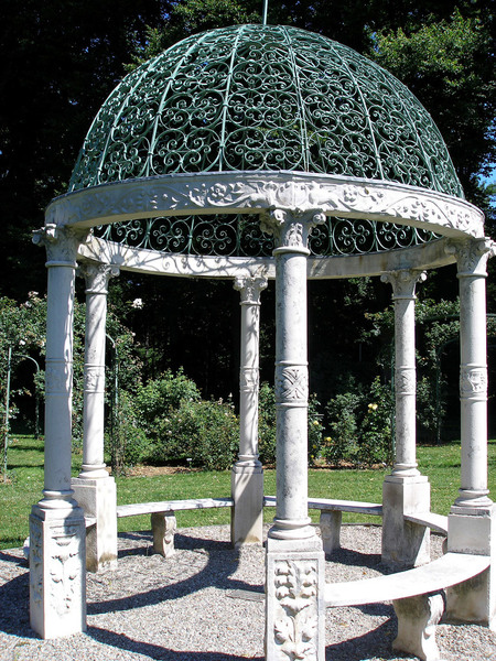Gazebo in Rose Garden