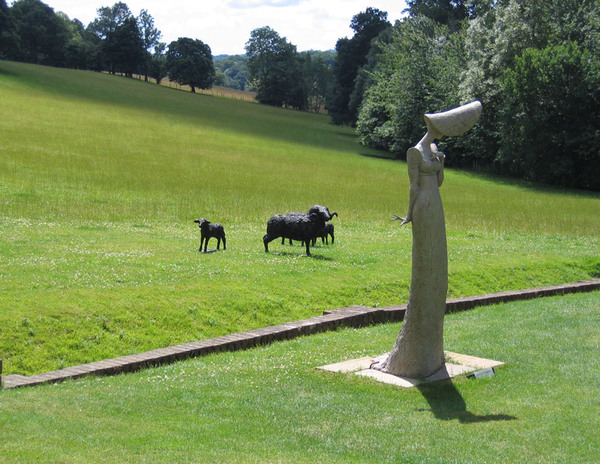 Sculptures at Pashley Manor Gardens
