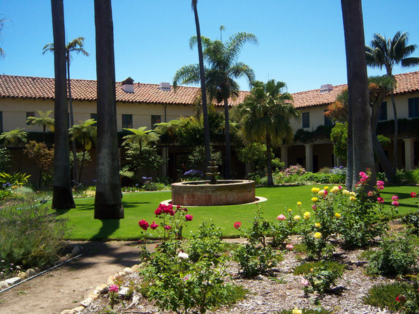 Courtyard, Santa Barbara Mission Garden