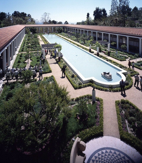 Getty Villa Garden, California