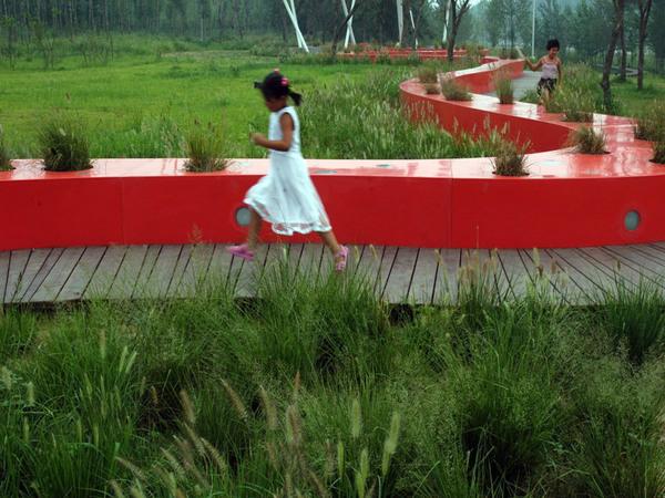 Tanghe River Park Red Ribbon, China