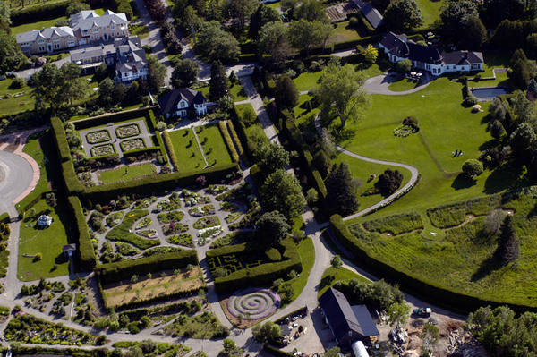Aerial View of Kingsbrae Garden