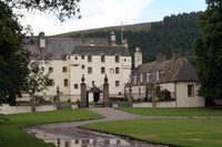 Medium traquair house courtyard original