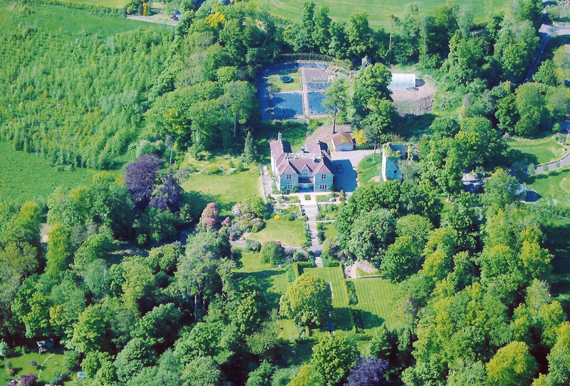 Aerial View of Arnot Tower Gardens