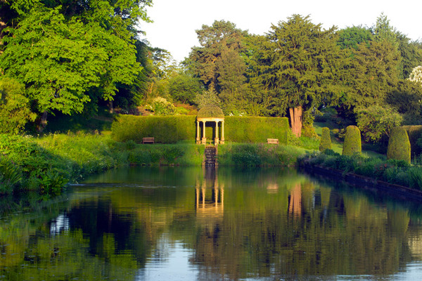 Long Pond and Temple, Forde Abbey Garden