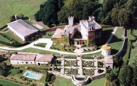 Aerial View of Castello di Celsa