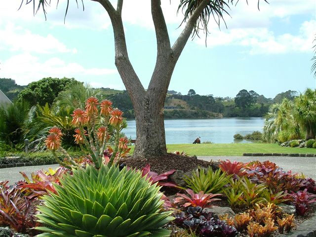 Totara waters subtropical garden for New zealand garden designs ideas