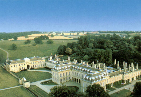 Aerial View of Boughton House Garden