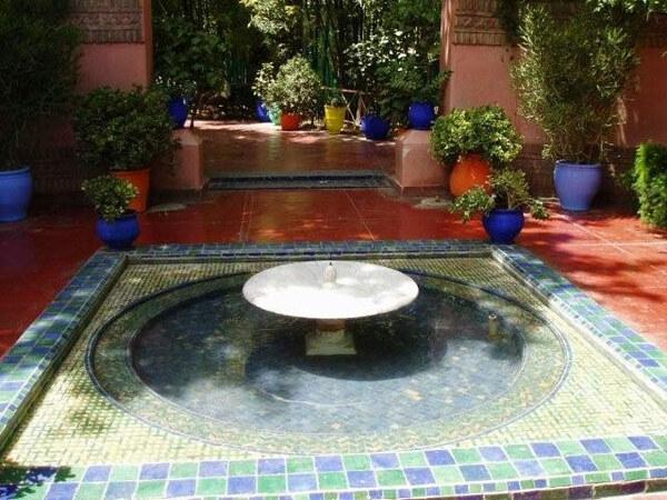Circular Pool, Jardin Majorelle