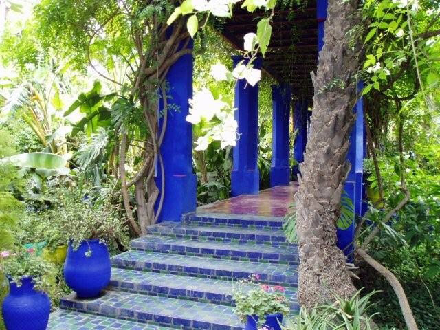 Steps jardin majorelle