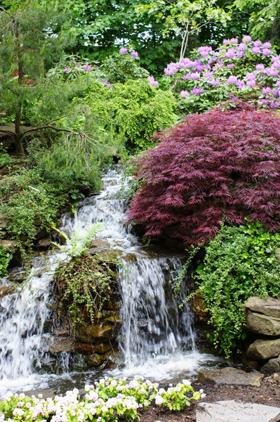 Waterfall, Cleveland Botanical Garden